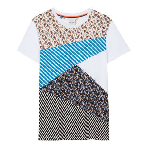 PAUL SMITH White Patch Crew T-Shirt