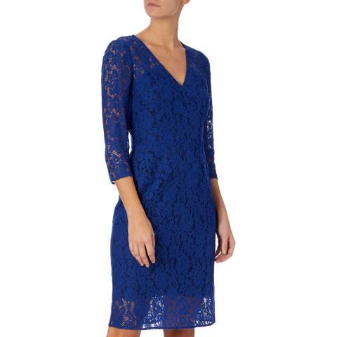 PAUL SMITH Blue Lace V-Neck Dress