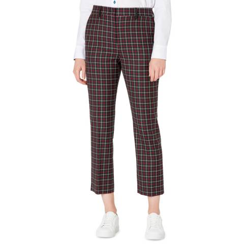 PAUL SMITH Red Check Wool Trousers