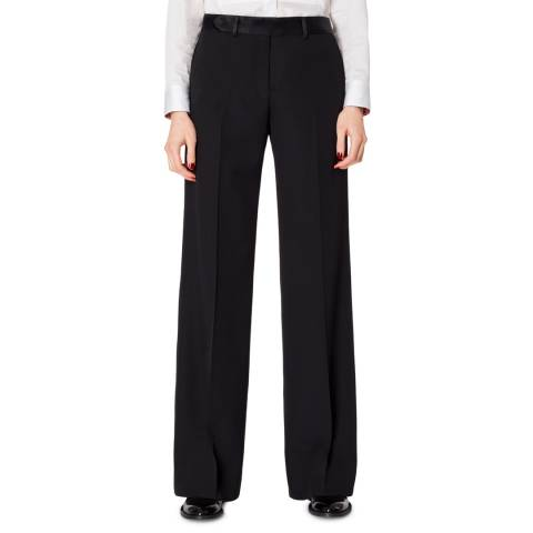 PAUL SMITH Black Wide leg Trousers