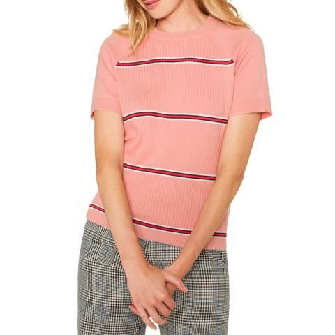 PAUL SMITH Pink Stripe Knit T-Shirt