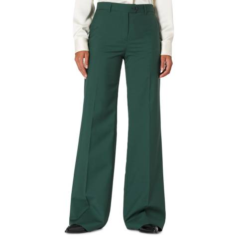PAUL SMITH Green Wool Blend Trousers