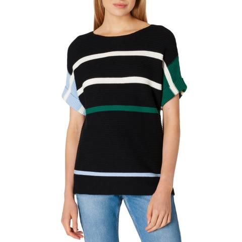 PAUL SMITH Black Stripe Wool Blend T-Shirt
