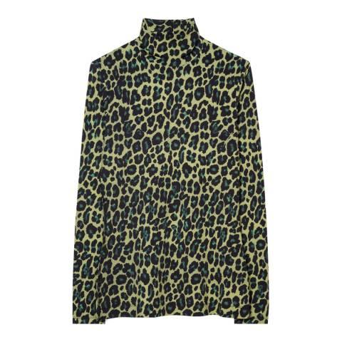 PAUL SMITH Multi Leopard Print Top