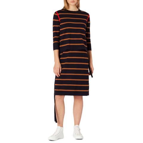PAUL SMITH Black Stripe Wool Dress