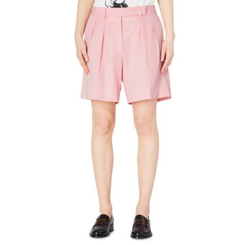 PAUL SMITH Pink Pleat Wool Shorts