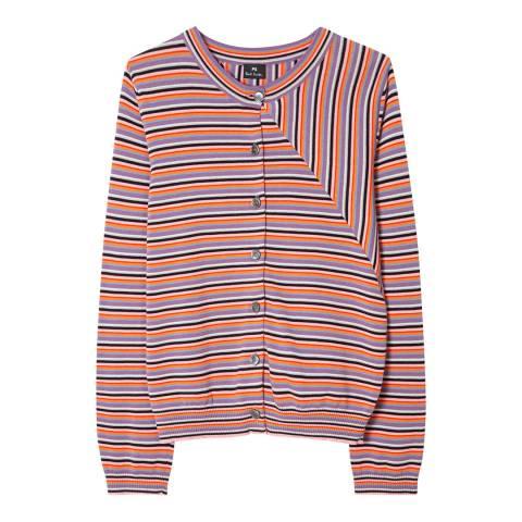 PAUL SMITH Multi Stripe Knit Cardigan