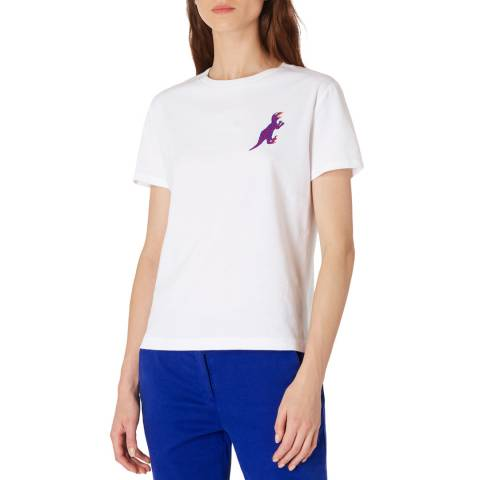 PAUL SMITH White Dino Crew T-Shirt