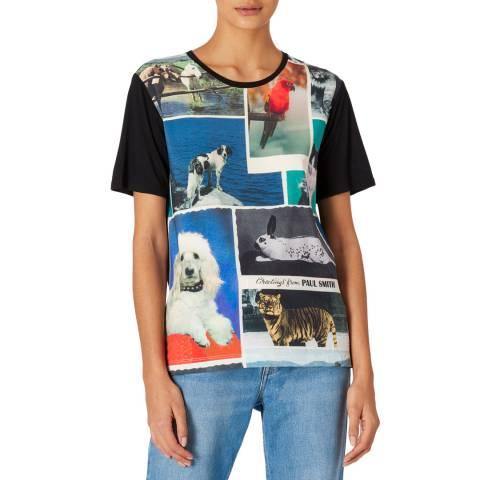 PAUL SMITH Black Animal Print T-Shirt
