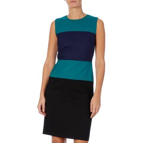 PAUL SMITH Blue Stripe Knit Dress