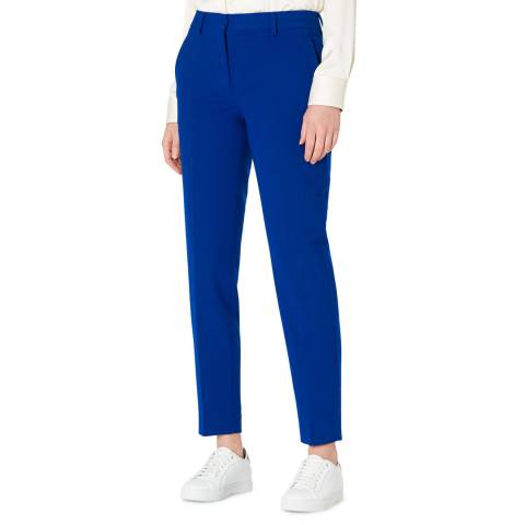 PAUL SMITH Blue Tailored Wool Blend Stretch Trousers