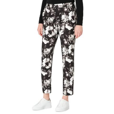 PAUL SMITH Black Monochrome Print Stretch Trousers