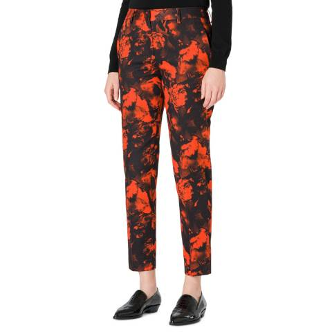 PAUL SMITH Red Print Stretch Trousers