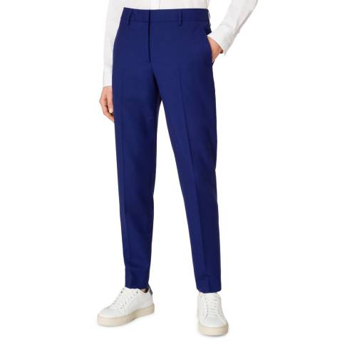 PAUL SMITH Blue Tailored Wool Trousers