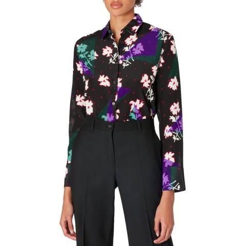 PAUL SMITH Black Floral Silk Shirt