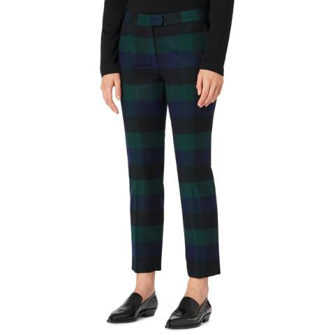 PAUL SMITH Blue Stripe Wool Blend Trousers