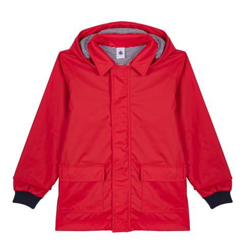 Petit Bateau Girl's Red Iconic Raincoat