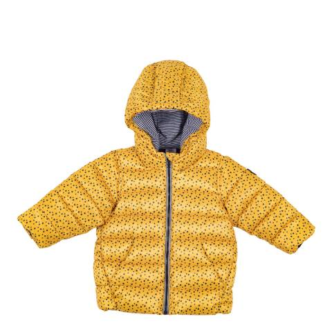 Petit Bateau Baby Boy's Yellow Quilted Puffer Jacket