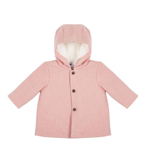 Petit Bateau Baby Girl's Pink Wool Coat