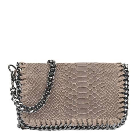 Luisa Vannini Beige Leather Crossbody Bag