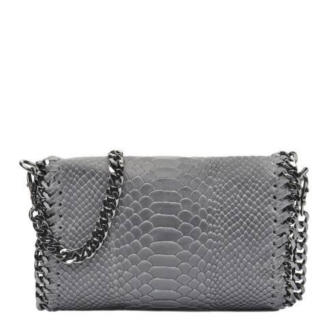 Luisa Vannini Grey Leather Crossbody Bag