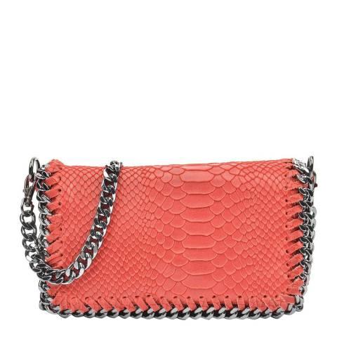 Luisa Vannini Red Leather Crossbody Bag