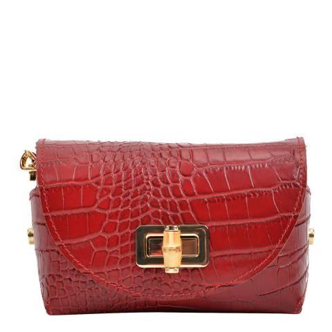 Anna Luchini Red Leather Crossbody Bag