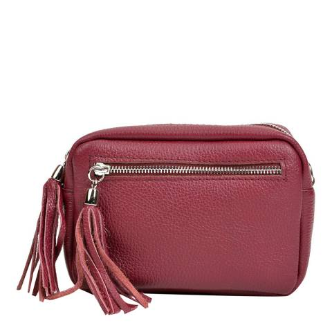 Isabella Rhea Red Leather Crossbody Bag