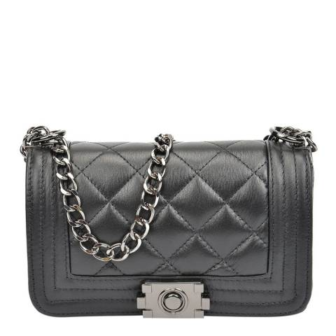 Isabella Rhea Black Leather Crossbody Bag