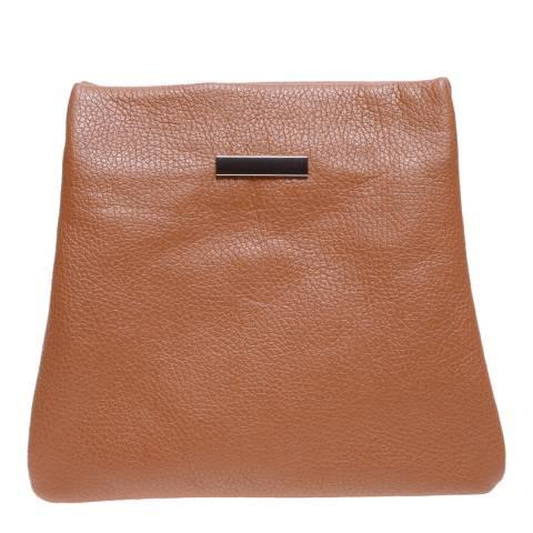 Roberta M Cognac Leather Shoulder Bag