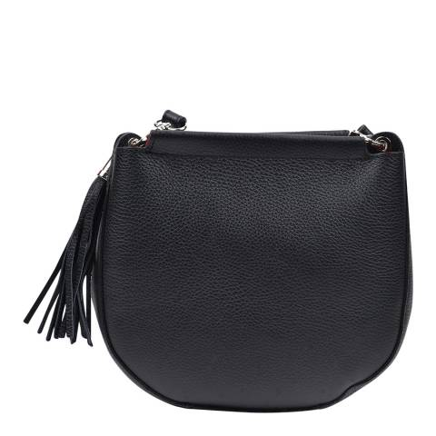 Anna Luchini Black Leather Crossbody Bag
