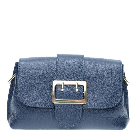 Isabella Rhea Navy Leather Crossbody Bag