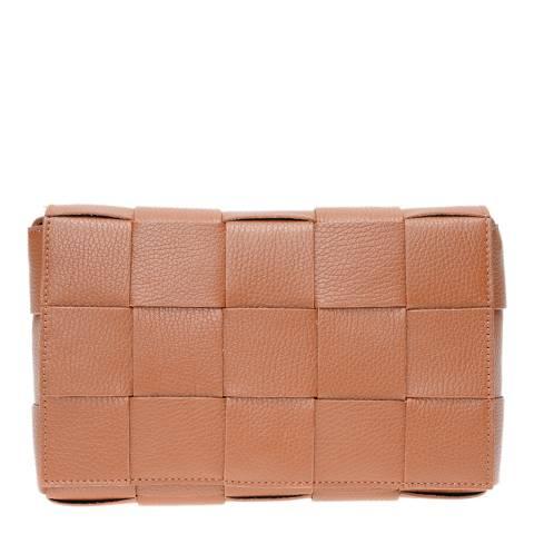 Isabella Rhea Cognac Leather Crossbody Bag