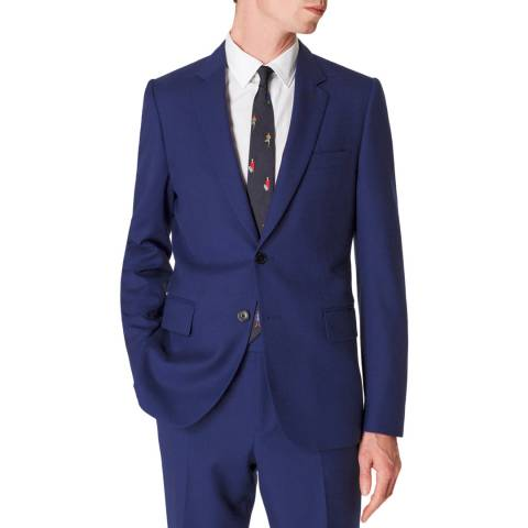 PAUL SMITH Navy Tailored Fit Wool Suit Jacket