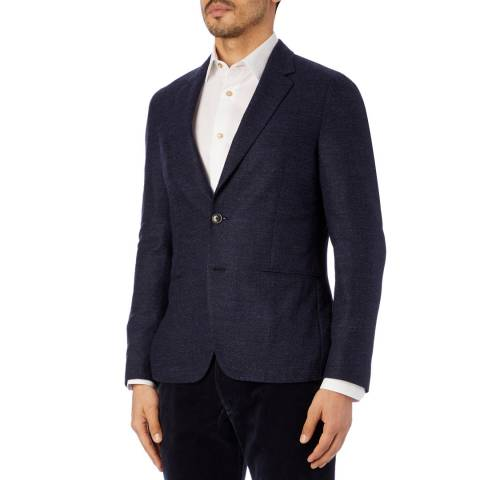 PAUL SMITH Navy Tailored Fit Wool Blend Jacket