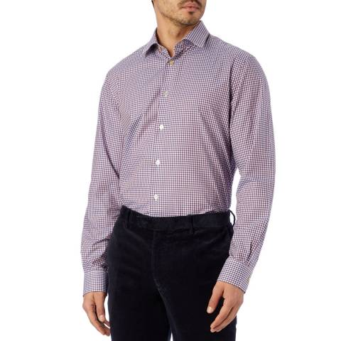 PAUL SMITH Purple Tailored Fit Cotton Shirt