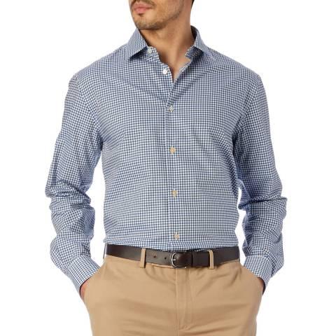 PAUL SMITH Blue Check Modern Fit Cotton Shirt