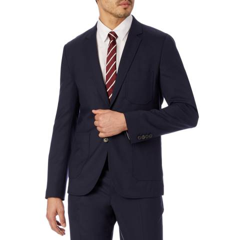 PAUL SMITH Navy Patch Pocket Wool Suit Jacket