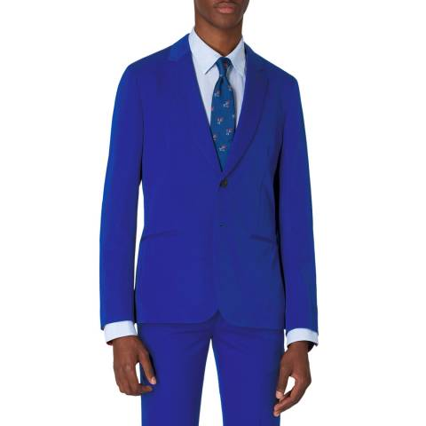PAUL SMITH Blue Tailored Fit Wool Jacket