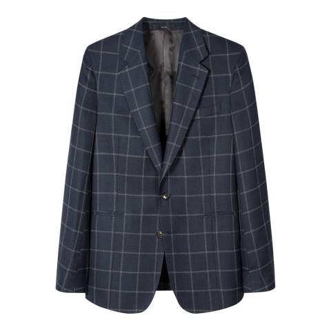 PAUL SMITH Midnight Tailored Fit Cotton/Wool Jacket