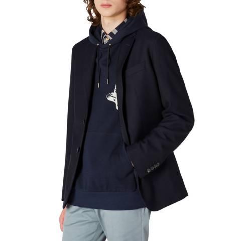 PAUL SMITH Deep Navy Slim Fit Wool Jacket