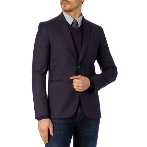 PAUL SMITH Navy Dot Wool Jacket