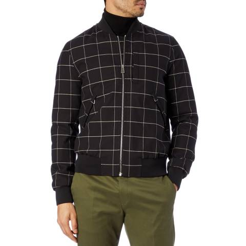 PAUL SMITH Black Casual Check Bomber Jacket