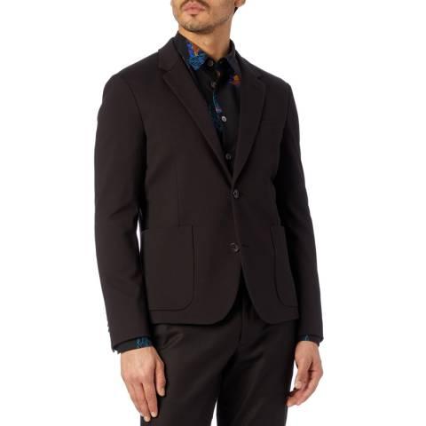 PAUL SMITH Black Plain Cotton Blend Jacket