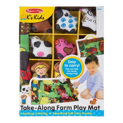 Melissa and Doug Take-Along Farm Play Mat