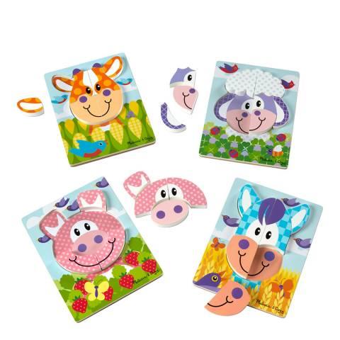 Melissa and Doug First Play Farm Jigsaw Puzzle Set