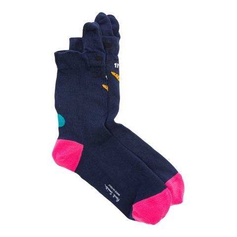 PAUL SMITH Navy Iris Ears Socks