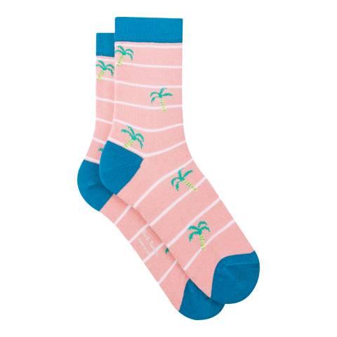 PAUL SMITH Pink/Blue Juliet Socks