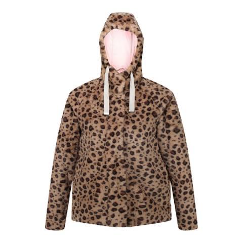 Regatta Leopard Haddie Faux Fur Jacket