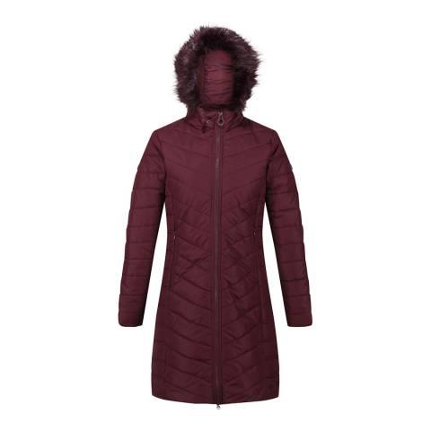 Regatta Burgundy Fritha Parka Jacket